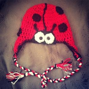 Crochet Lady Bug Beanie