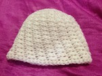 Newborn half double crochet hat