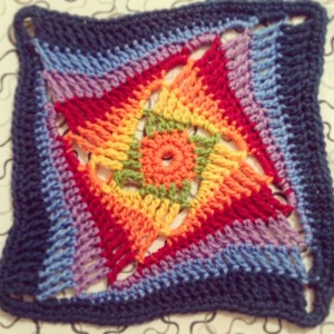 On the Huh rainbow Crochet Square