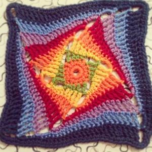 On the Huh rainbow Crochet Square